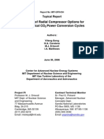 Analysis of Radial Compressor Options For