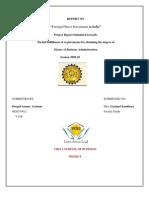 FDI Project Report