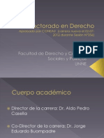 Doctorado en Derecho - A+¦o 2013 - Actualizado  Power Point
