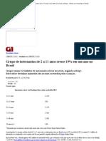 G1 - Grupo de internautas de 2 a 11 anos cresce 19% em um ano no Brasil - notícias em Tecnologia e Games