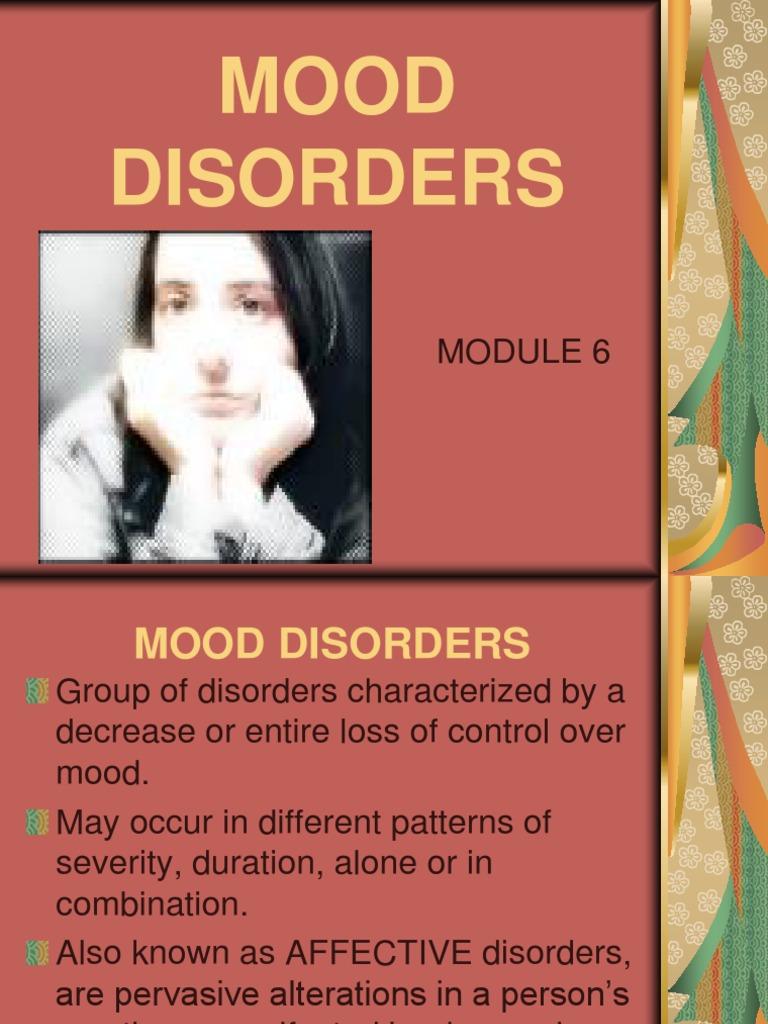 Case study mood disorders
