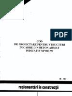 Cod Proiectare Structuri Cadre Ba NP 007 97