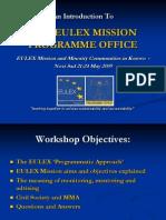 The Eulex Mission Programme Office- Novisad