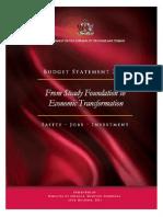 Budget Statement 2013