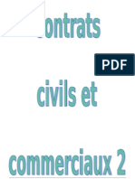 Contrats Civils Et Commerciaux 2e Semestre