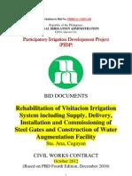 NATIONAL IRRIGATION ADMINISTRATION  Invitation to Bid