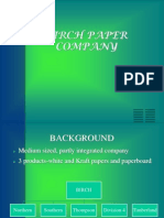 Birch Paper Company Case Study