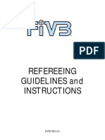 FIVB Refereeing Guidelines and Instructions 2009