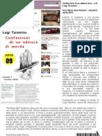 """Sara Rania alias Kitsuné, su Bookblog.it, 5 aprile 2013, recensisce """"Confessioni di un editore di merda"""" di Luigi Tarantino (ebook 09 Musicaos.it)"""
