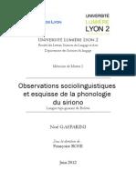 Observations sociolinguistiques et esquisse de la phonologie du siriono, langue tupi-guarani de Bolivie