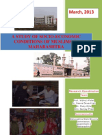 Socio Economic Profile of Muslims in Maharashtra by Economics Department SNDT, Mumbai Report for Maharashtra State Minority Commission-28!03!2013