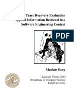 Advancing Trace Recovery Evaluation - Applied Information Retrieval in a Software Engineering Context