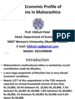 Socio Economic Profile of Muslims in Maharashtra 26-4-2012