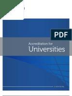 Accreditation for Universities