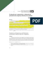 Evaluación por competencias y estimacion de potencial