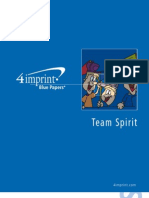 Team Spirit Blue Paper by promotional products retailer 4imprint