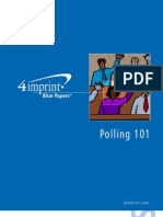 Polling 101 Blue Paper by promotional products retailer 4imprint