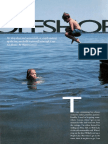 Swim Raft Plan offshore in water