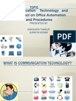 Communication Technolgy and Office Automation