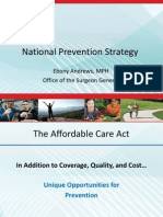 National Prevention Strategy by Eboni Andrews