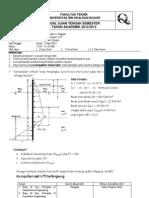 UTS Rekayasa Pondasi II 2012 - 2013 Reguler