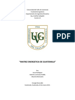 Matriz energética de Guatemala