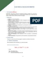 Fórmulas para el cálculo de crédito HIPOTECARIO MIVIVIENDA