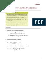 Sol Mat II Tema6 Geometria Euclidea Producto Escalar