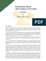 Information about Meditation Centers in Sri Lanka