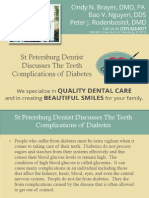 St Petersburg Dentist Discusses the Teeth Complications of Diabetes