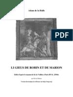 Li gieus de Robin et Marion - Adam de la Halle par Olivier Bettens