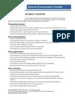 Network Documentation Checklist