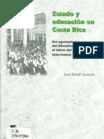 Estado y Eduacion en Costa Rica