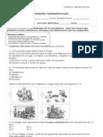 prueba unidad 2 3° basico