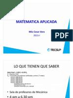Mat Aplicada (Derivada y Integrales)