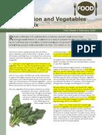 Irradiated Vegetables