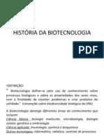 1- História da biotecnologia