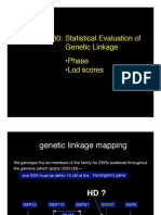 Statistical Evaluation of Genetic Linkage