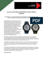 Suunto Quest Novedades ABR13 Nota Prensa Oficial 4abr13