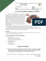GUÍA DE ESTUDIO Iº - Nº 03 - MANIFESTACIONES DE LA DIVERSIDAD CULTURAL EN EL PERU