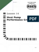 Heat Pump 14 Performance Criteria