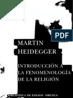 68717607 Heidegger Martin Introduccion a La Fenomenologia de La Religion OCR