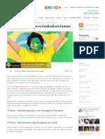 Como criar uma página no facebook em 05 passos