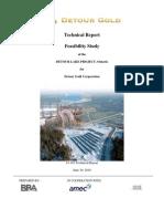 Detour Gold Corporation Technical Report 2010