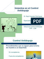 Procedimientos en El Control Antidopaje