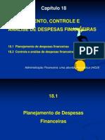 Cap 18 Planej Controle Análise Desp Financeiras