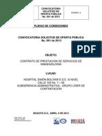 Pliego de Condiciones 2013c001
