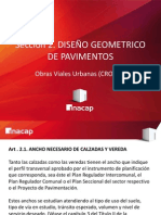 2-. Obras Viales Urbanas (CRO101) Diseño Geometrico de Pavimentos