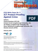 ETSI-WP5 Product Proofing