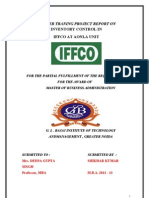 Inventory Control in IFFCO